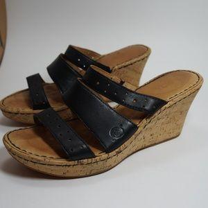 Born cork wedge triple strap sandal 7